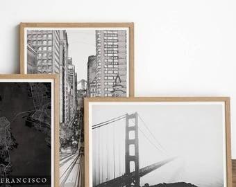 Golden Gate Bridge - San Francisco Print - San Francisco Art - Golden Gate Print - Bridge Print - California Art - California Decor