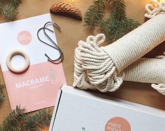 DIY MACRAME KIT, diy kit, macrame diy , learn to macrame, how to macrame