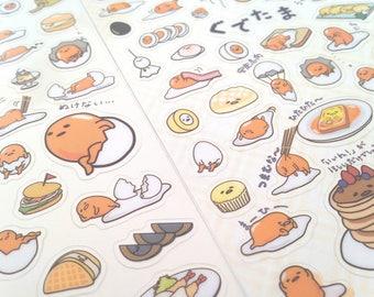 Sanrio Gudetama the lazy egg Breakfast Time cute kawaii kitsch sticker sheets