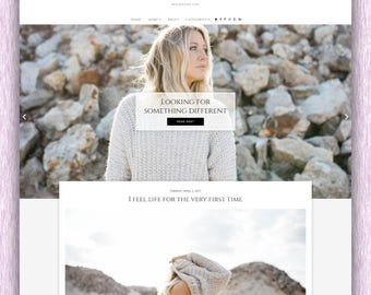 SALE! Charlie | Responsive Minimalist Premade Blogger Template