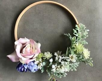 Flower Wall Decor, Wedding Flower Decoration, Flower Hoop, Boho Decor, Event Decor