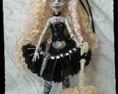 RESERVED For Isabel  3rd Payment Goldilocks G.A.W.P Inc OOAK Custom Doll and Mr.Fluffy ( Ghoulia Yelps ) Monster High Repaint