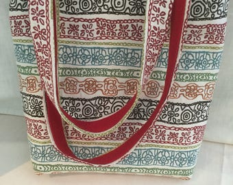 Colorful Tapestry Tote Bag Padded for Your Electronics
