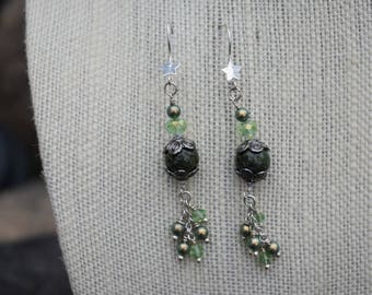 Forest Green Earrings