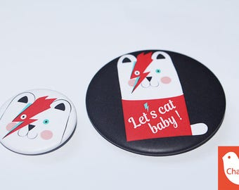 Set of 2 badges - Chabada Collection