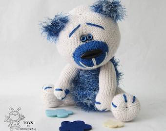 Teddy bear dreamboat.Amigurumi Bear.Knitting adorable Bear.Bear toy.Handknit teddy.Stuffed bear.Handknit teddy.Softie Bear.Children gift