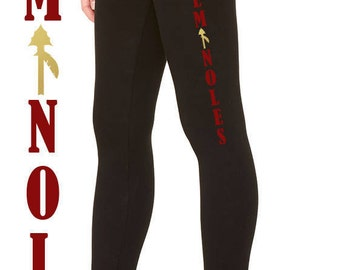 Seminoles Leggings, Noles Leggings, FSU Leggings, Florida State University Leggings, FSU, Noles, Seminoles