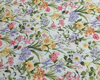 Botanical Society-Medium Flowers All Over Cotton Fabric from Fabri-Quilt