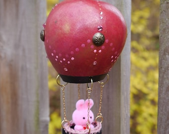 Pink and Red Gourd Hot Air Balloon