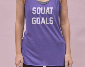 Squat Goals Tank - funny gym top, womens gymwear, squats tanktop, womens workout tank, racerback tank, funny workout shirt, gym gifts