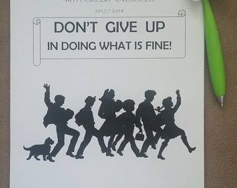 6-12yo Circuit Assembly JW Notebook Don't Give Up in Doing What is Fine with the Circuit Overseer 2017/18