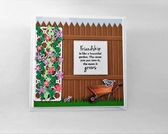 Friendship card, friend card, greeting card, birthday card, friend birthday card, friend greeting card,