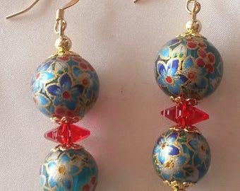 Japanese TENSHA beads - earrings-
