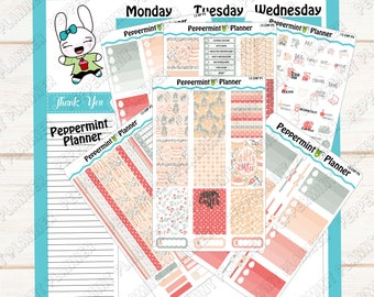 Happy Easter Weekly Planner Kit --- Planner Stickers --- Will fit in your Classic HP --- CHP13