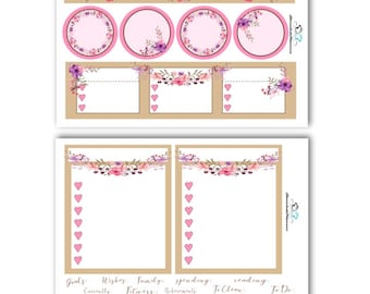 September Floral Notes Page Kit | ECLP Notes Page Kit | Notes Page Planner Sticker Kit | Planner Stickers