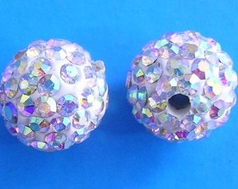 10 Crystal AB Quality Pave Rhinestone Disco Balls 8mm 10mm 12mm Shamballa Beads