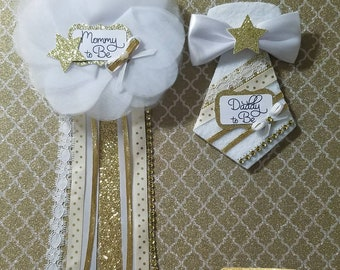 Twinkle Twinkle Little Star/ Baby Shower Corsage/ Baby Boy/ Baby Girl/ Mommy to be/ Daddy to be/ Grandma to be/ Grandpa to be/ Pin/ Corsages