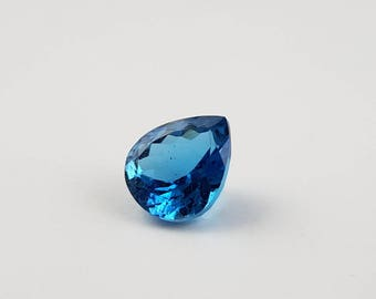 London Blue Topaz Size 12x14 MM Faceted Pear Beautiful Color and Luster, Fine Quality Gemstone.(BT-5)