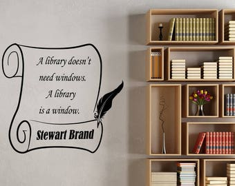 Library Wall Decal Stewart Brand Motivational Quote Sticker Vinyl Lettering Study School Sign Inspirational Words Art College Dorm Decor ed9