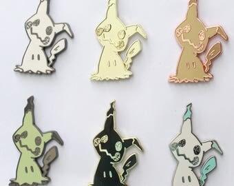 Mimikyu Hard Enamel Pin - Rose Gold, Black Gold, Shiny Pokemon - Color Variants