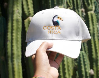Costa Rica Toucan Hat | Embroidered, Adjustable Dad Hat | Skate and Surf