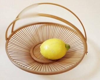 beautiful vintage bamboo plate bowl fruit plate midcentury modern decoration  homedecor minimalist japanese basket