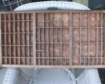 Vintage Printer Drawer, Letterpress Tray.