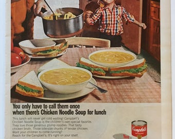 1967 Chicken Noodle Soup Ad from LIFE magazine