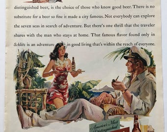 1941 Schlitz Beer Ad from LIFE magazine