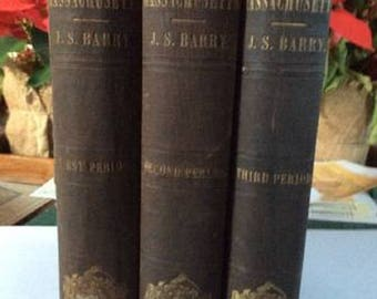 History of Massachusetts 3 Volume Set C. 1857