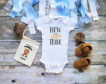New To The Tribe Onesie® Cute Baby Clothes - Boys and Girls - Infant & Newborn Clothes - Baby Shower Gifts - Newborn Onesie - M319