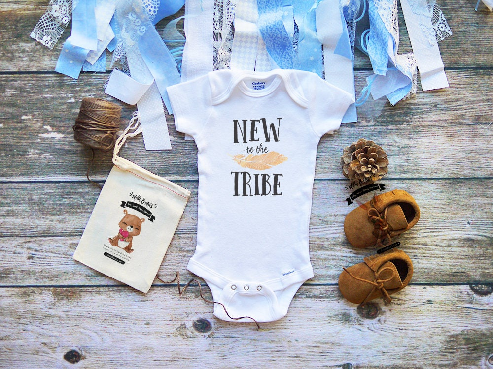 New To The Tribe Onesie 174 Cute Baby Clothes Boys And Girls