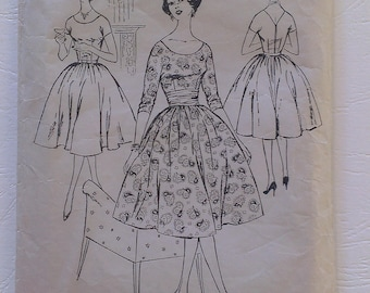 1950's Dress Pattern 36 Bust 30 Waist Blackmore Complete