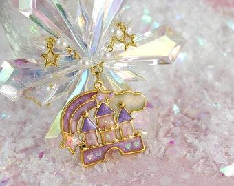 Fairyland Princess Fairy Kei Castle Pendant Cute Statement Necklace