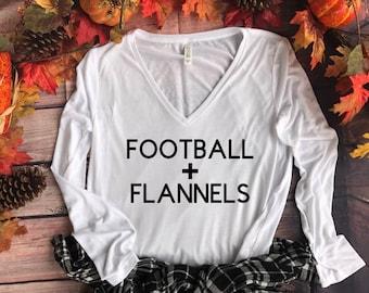 SALE Football Shirt // Women's Fall Shirts, Flannel Shirts, Football T shirts, Football Fall Shirts, Football Shirts, Game Day Shirt