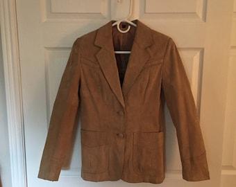 Sheplars Vintage Women's Leather Jacket