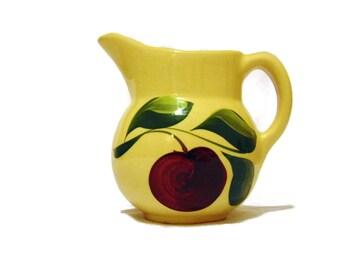 Watt Pottery: Three Leaf Apple Milk Pitcher