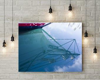 Ship Reflection Print Wall Art Fine Photography Sail Boat Photos Living