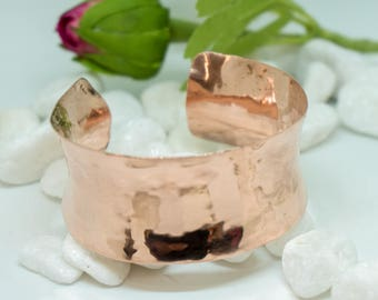 Hand made, handcrafted, copper, anticlastic, cuff bracelet