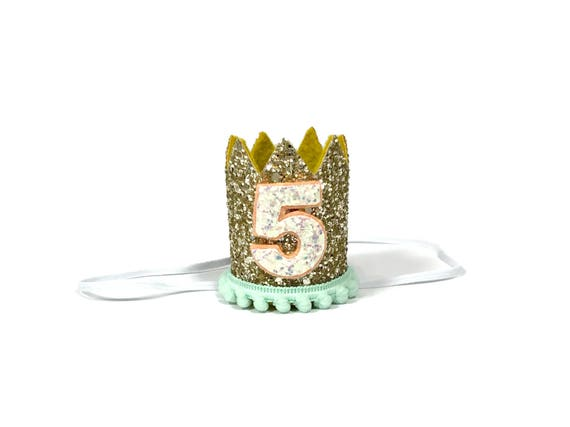 Pet Birthday Party || Dog Hat || Kitty Cat Birthday Crown || Animal Crown || Animal Party || Birthday Party Photo Prop || Pale Gold Glitter