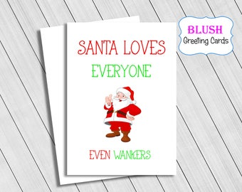Rude Christmas Card, Adult Cards, Funny Christmas Cards, Naughty Christmas Cards