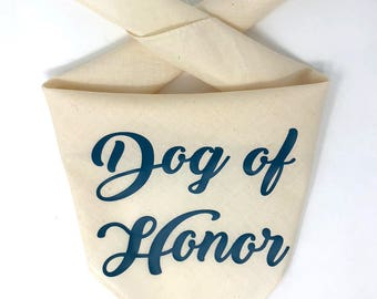 Dog of Honor Bandana, My Humans Are Getting Married Dog Bandana, Dog Wedding Bandana, Wedding Save the Date, Parents Are Getting Married