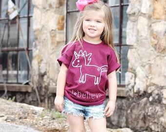 Kids Unicorn Shirt, Children shirt, I believe shirt, toddler shirt, unicorn tee, child gift, fantasy shirt, unicorn tee, girl unicorn shirt