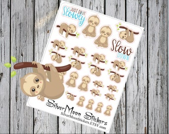 Sloth Planner Organizer Stickers - Slow time