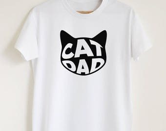 Cat dad T-shirt, funny cat owner shirt, gift for him, cat dad shirt