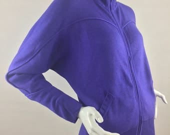 Vintage Escada Purple Zip-Up Cardigan Sweater/Euro Size 34/US Size Medium