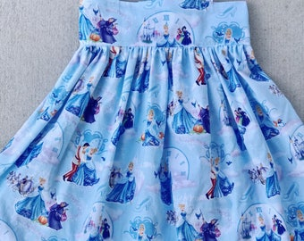 Cinderella sundress, Cinderella dress, Girls or Toddler dress, Tie Straps, Lauren dress