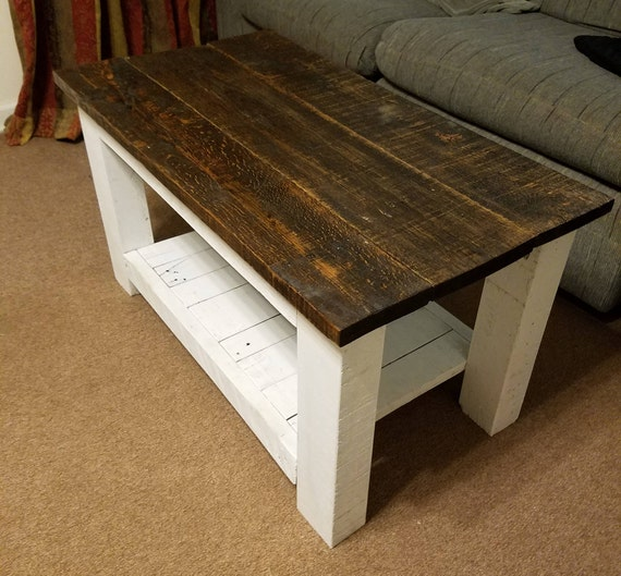 Hand Made Coffee Table Re Purposed Wood