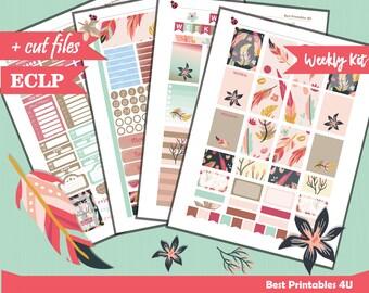Weekly Planner Sticker, Printable Planner Stickers Kit, Erin Corndren Weekly Kit Vertical, Weekly Kit, Weekly Stickers, Cutfiles, ST-341