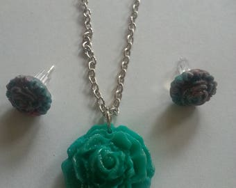 Flower - Polymer Clay Marbled Jewelry